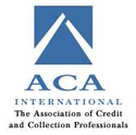 logo de aca international, the associations of credit and collections professionals